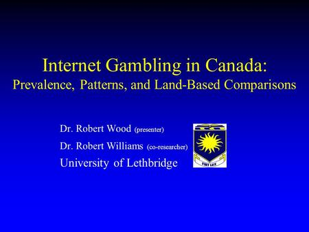 Robert williams gambling tropicana online gambling