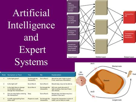 Artificial Intelligence and Expert Systems. ARTIFICIAL INTELLIGENCE (AI) is the science of R L Being able to Ability to solve a problem.