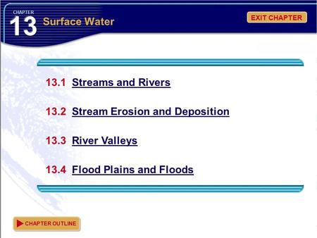 13 Surface Water 13.1 Streams and Rivers