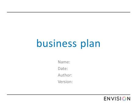 a business plan is usually