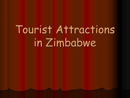 Tourist Attractions in Zimbabwe. Animals Wildebeest and Zebra.