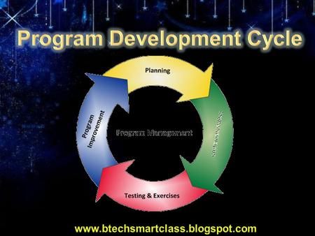 Program Development Cycle Modern software developers base many of their techniques on traditional approaches to mathematical problem solving. One such.