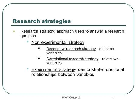 descriptive research strategy