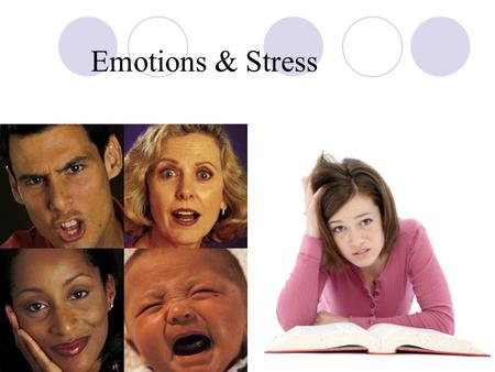 Emotions & Stress. What are the three parts of emotion? Expressive behavior Physiological arousal Conscious experience.