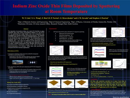 The deposition of amorphous indium zinc oxide (IZO) thin films on glass substrates with n-type carrier concentrations between 10 14 and 3x10 20 cm -3 by.