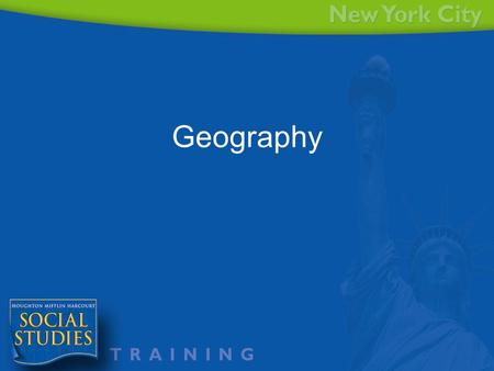 Geography. 5 Themes of Geography Agenda Understand the 5 Themes of Geography Identify the 5 themes of geography in questions, graphics and text. Create.