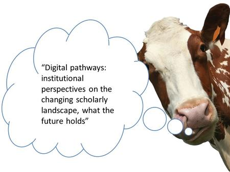 """Digital pathways: institutional perspectives on the changing scholarly landscape, what the future holds"""