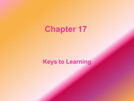 Chapter 17 Keys to Learning. terrible It is an adjective. The terrible storm blew out the lights last night.