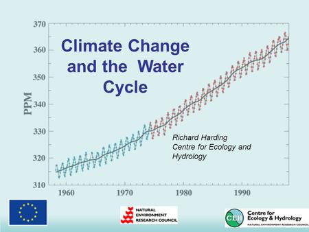 Climate Change and the Water Cycle Richard Harding Centre for Ecology and Hydrology.