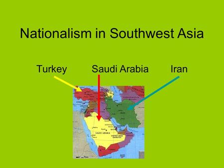 Nationalism in Southwest Asia