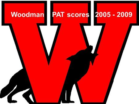 Woodman PAT scores 2005 - 2009. Language Arts Acceptable standardExcellence EnrolledWritersProvince(writers)CBE writersEnrolledWritersProvince(writers)CBE.