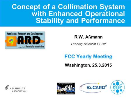 Concept of a Collimation System with Enhanced Operational Stability and Performance.