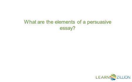 Elements of the Personal Essay