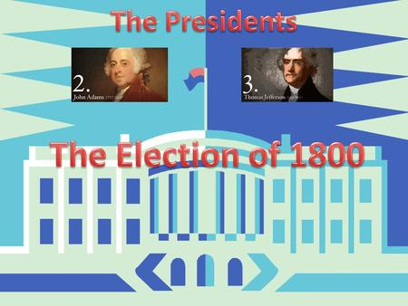 A.Federalists v. Democratic Republicans B.President John Adams ran for reelection against Thomas Jefferson and Aaron Burr C.The Democratic Republicans.