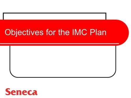 Objectives for the IMC Plan. Value of Objectives Communications Planning and Decision Making Measurement and Evaluation of Results Planning and Decision.