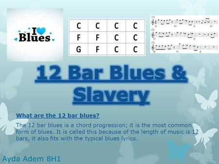What are the 12 bar blues? The 12 bar blues is a chord progression; it is the most common form of blues. It is called this because of the length of music.
