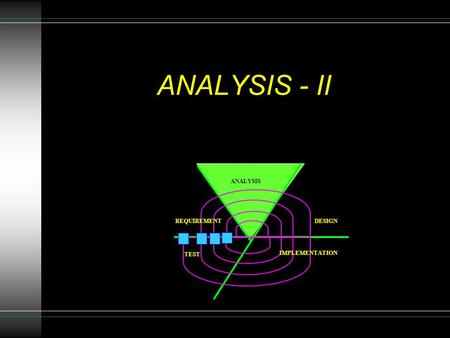 ANALYSIS - II REQUIREMENT ANALYSIS DESIGN IMPLEMENTATION TEST.