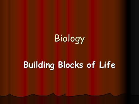 Biology Building Blocks of Life. Definitions for Section 7 Carbohydrate Carbohydrate Monosaccharide Monosaccharide Lipid Lipid Protein Protein Amino acid.