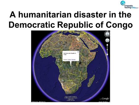 A humanitarian disaster in the Democratic Republic of Congo.