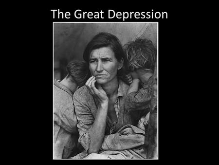 The Great Depression. In 1934 and 1936 drought and dust storms ravaged the great American plains and added to the New Deal's relief burden.