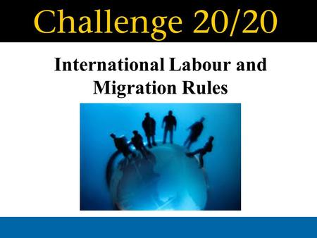 International Labour and Migration Rules. SCHOOL PARTNERS: [Colégio Novo da Maia], [Maia], [Porto], [Portugal] [St. Andrew´s- Sewanee School], [Tennessee],