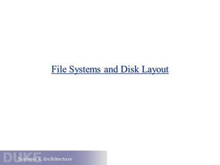 File Systems and Disk Layout. I/O: The Big Picture I/O Bus Memory Bus Processor Cache Main Memory Disk Controller Disk Graphics Controller Network Interface.