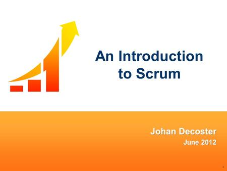 "1 An Introduction to Scrum. 2 Square One Consulting We're losing the relay race Hirotaka Takeuchi and Ikujiro Nonaka, ""The New New Product Development."