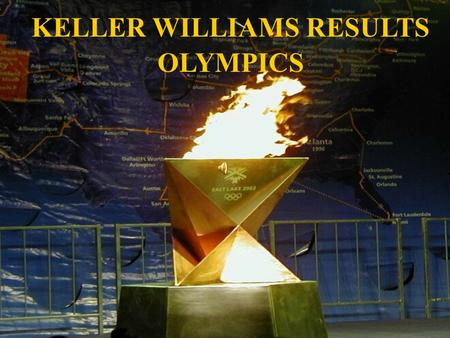 KELLER WILLIAMS RESULTS OLYMPICS. Events Awarded Monthly 1 Point for a New Listing 1 Point for a Closed Listing 1 Point for an Under Contract 1 Point.