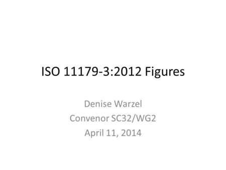 ISO 11179-3:2012 Figures Denise Warzel Convenor SC32/WG2 April 11, 2014.