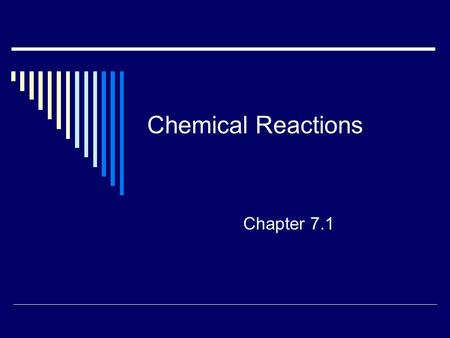 Chemical Reactions Chapter 7.1.