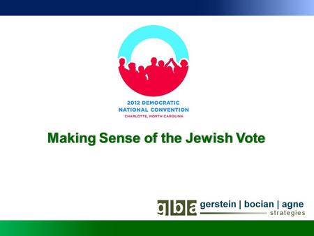 Making Sense of the Jewish VoteMaking Sense of the Jewish Vote.