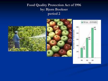 Food Quality Protection Act of 1996 by: Bjorn Bookser period 2.