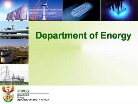 Background The Department has adopted an IRP with 42% target of electricity generation from renewable energy sources 03 rd August 2011 the Department.