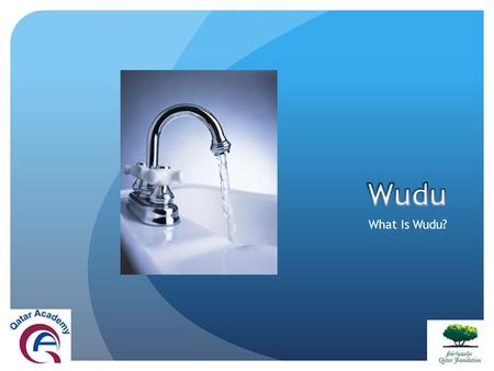 What Is Wudu?. Wudu is a ritual cleansing Muslims do before prayer, reading Quran and doing Tawaf around Kaaba in Hajj and Umrah.