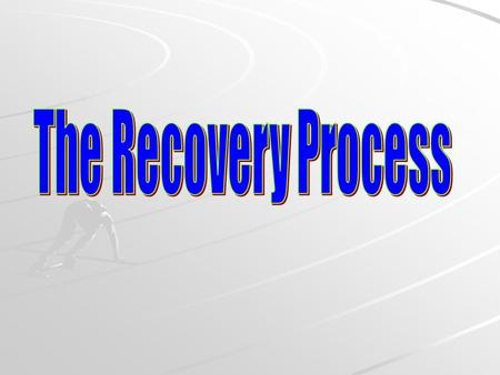 The recovery process involves returning the body to its pre-exercise state! Complete Practical Task 8 pg 382/3 Record results Answerer questions 1-6.