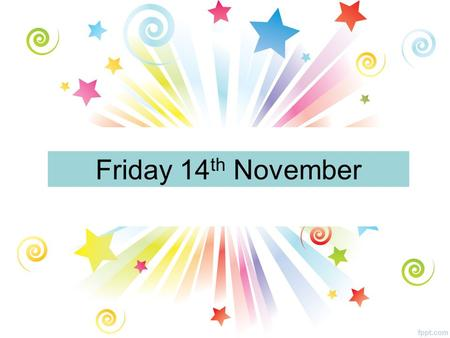 Friday 14 th November. All Year Groups Comenius Assemblies S1, S2, S3 and S4 pupils will be called down to the assembly hall today during period 1 and.