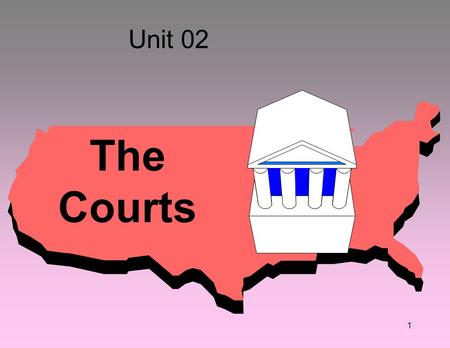 "1 Unit 02 The Courts. Article III, Section 1 –""One Supreme Court, and such inferior courts as the Congress may from time to time ordain and establish."""