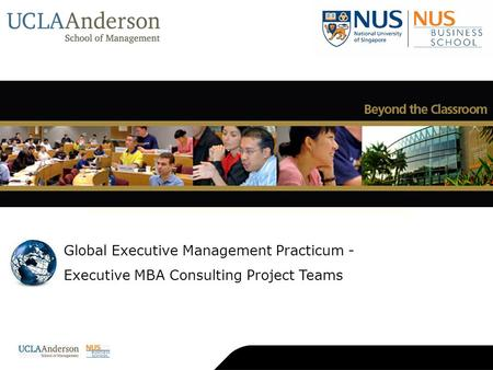 Global Executive Management Practicum - Executive MBA Consulting Project Teams About NUS About NUS Business School Deans Academic Directors World-Class.