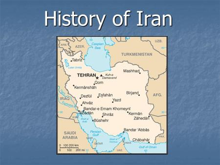 History of Iran. Persian Empire History Persia—Historical name Persia—Historical name for Iran (Name changed to Iran in 1935 at the request of the Shah)