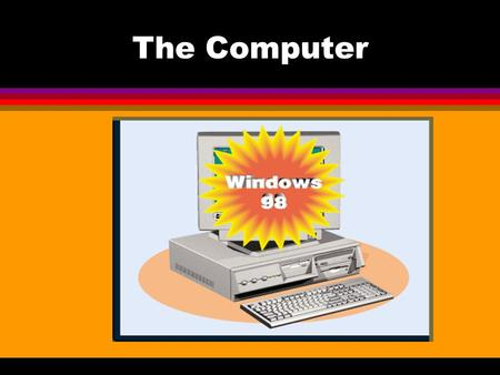 The Computer. Operating System l Operating system software controls the overall activity of a computer. Most new computers come with the Windows operating.