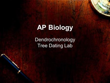 Www.carbon14.pl AP Biology Dendrochronology Tree Dating Lab.