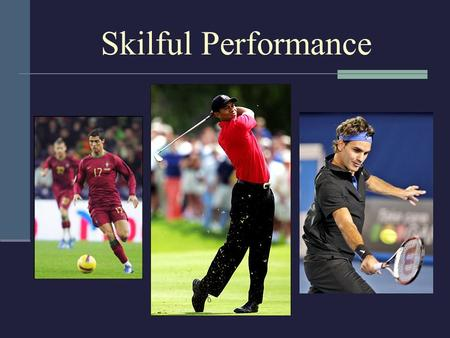 Skilful Performance.