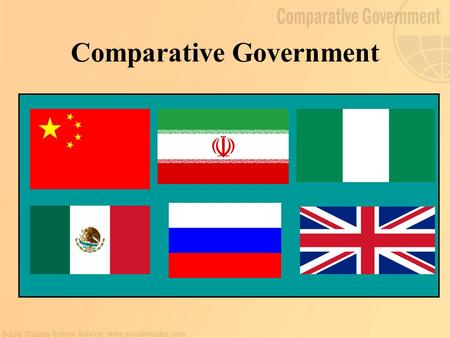 Comparative Government. Reasons to Study Comparative Government Countries are actors in a continuously unfolding play Comparative Government and Politics.