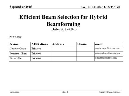Efficient Beam Selection for Hybrid Beamforming