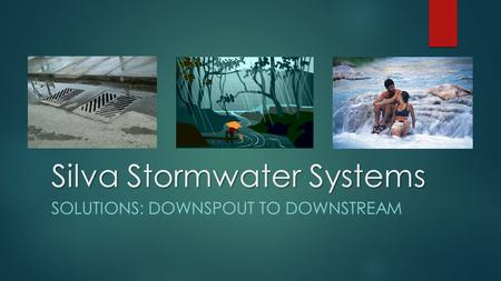 Silva Stormwater Systems SOLUTIONS: DOWNSPOUT TO DOWNSTREAM.