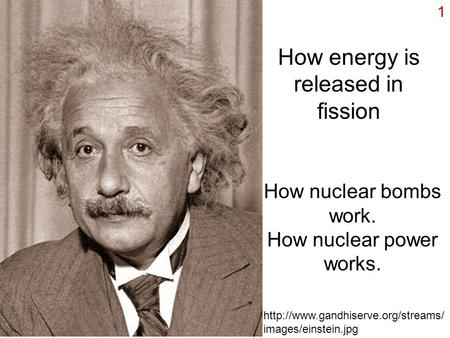 How energy is released in fission
