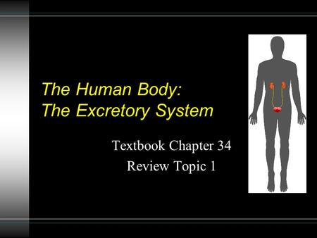 The Human Body: The Excretory System Textbook Chapter 34 Review Topic 1.