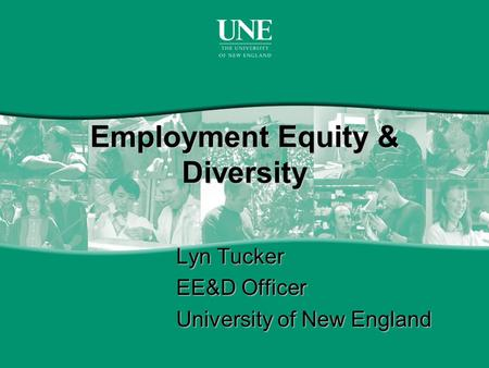 Employment Equity & Diversity Lyn Tucker EE&D Officer University of New England.