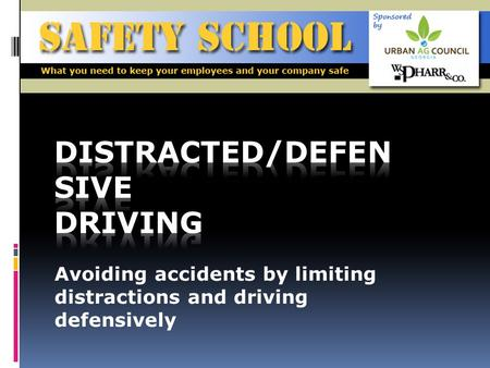 Avoiding accidents by limiting distractions and driving defensively.