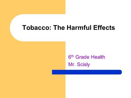 research on the harmful effects of